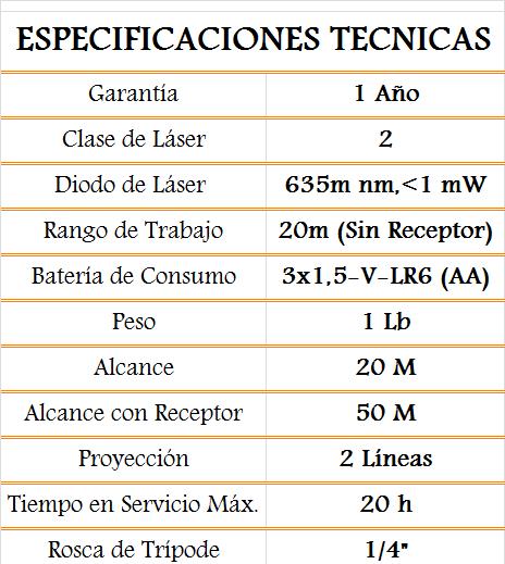 media wysiwyg Bosch Nivel laser Nivel laser GLL 2 50 BM1 2 50gll Tornillos del Sur Importaciones
