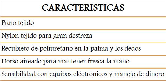 media wysiwyg Zubiola Proteccion Manual Guantes 11914409 Tornillos del Sur Importaciones