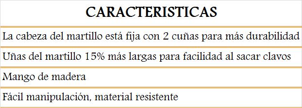 media wysiwyg 51 274martillo Tornillos del Sur Importaciones